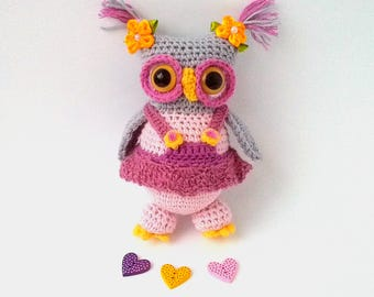 Owl doll, Crochet owl toy, Hand knit Owl, Amigurumi Owl, Plush Owl, Nursery decor, Stuffed Owl Toy, Stuffed animal Owl, Handmade crochet Owl