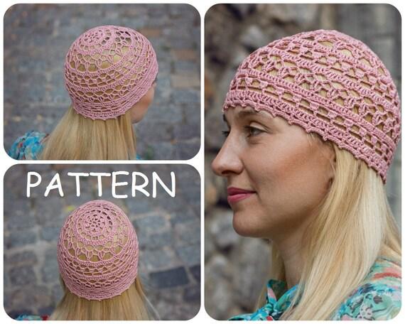 Crochet Pattern Hat For Summer Womens Crochet Lace Beanie