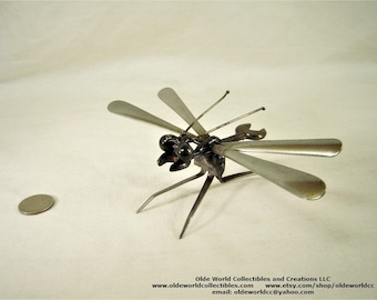 Wrench body dragonfly- Welded Steel Industrial Sculpture