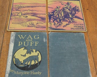 Antique Book Boards For Art Making Lot of 4