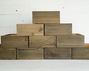 10X Wood Planter Boxes Wedding Centerpiece Cedar Flower Box Set | Wedding Table Decor | Rustic Wedding Decor Rustic Wedding Centerpieces
