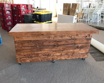 The Canyon Buffet Table - 6' mobile pallet or barn wood buffet tabke or desk