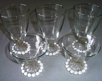 Anchor Hocking Boopie Set Of Six Water Goblets