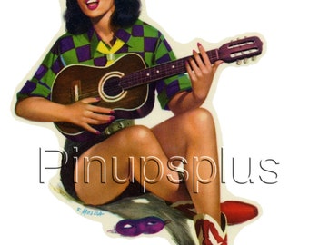 Retro Pinup Decals By Pinupsplus On Etsy