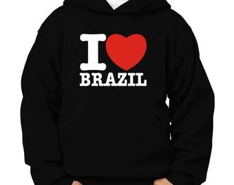 I Love Brazil Children Hoodie