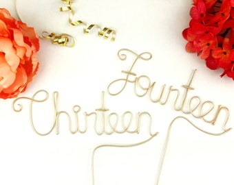 Wire word numbers - rustic wedding - Guest table numbers with STICK  - wedding table numbers - wedding decor - wedding reception | ©
