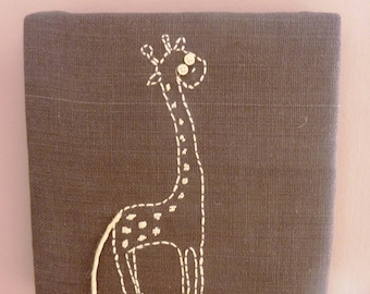 Canvas beige giraffe