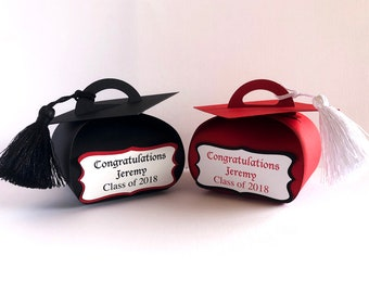 Personalized Graduation Favor Boxes, Graduation Gift Boxes, Graduation Party Favors, Graduation Favors, Graduation Decorations class of 2018