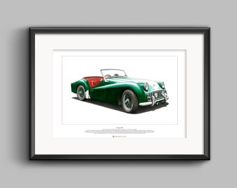 Triumph TR3A - ART POSTER A2 size