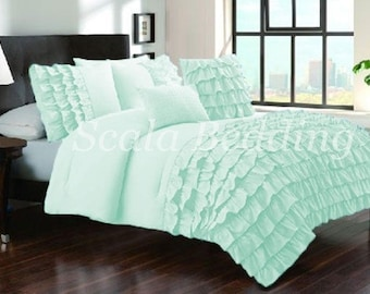 Soft and Luxurious  100% Egyptian Cotton 1 PC Half Ruffle Duvet Cover Twin/Queen/King Sizes  1000 TC