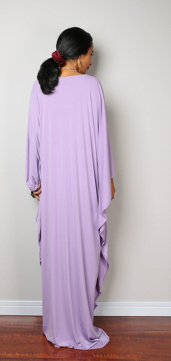 Lilac Dress Light Purple Kaftan Kimono Butterfly Dress: