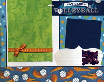 Eat Sleep Volleyball - Premade Scrapbook Page