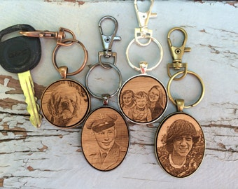 Custom - Fathers Day Photo Gift - Fathers Day Gift - Fathers Day - First Fathers Day Gift - First Fathers Day Keychain - Fathers Day Photo