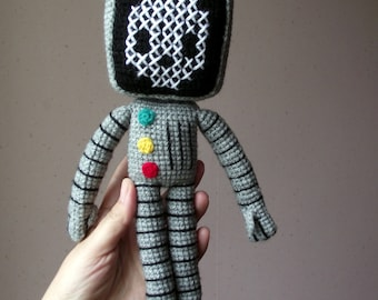 Roger the robot amigurumi pattern PDF