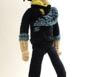 Spike (Cowboy Bebop) - Handmade crochet original design doll