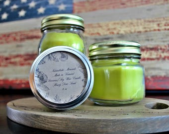 Honey Dew Beeswax & Soy Wax Mason Jar Candles/ Healthy Benefits/ Clean Burning/ All Natural