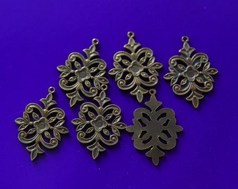 Vintage Copper Filigree Dangle (6)