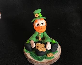 Polymer Clay St Patrick's Day Leprechaun