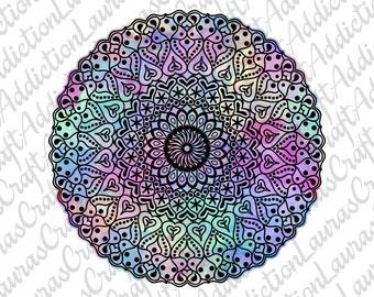 Hearts Mandala Design, svg dxf pdf cut file for Silhouette Cricut, Valentine Mandala, Mandala svg, Mandala svg, heart svg, Valentine svg