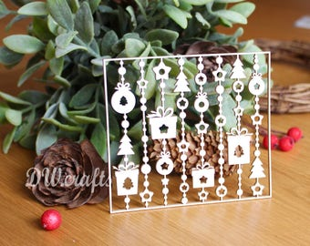 Christmas background  chipboard for mixmedia scrapbooking