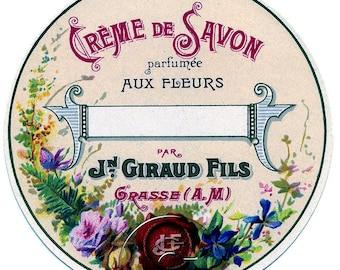 Antique Vintage French Soap Cosmetics Label Digital File Printable Print