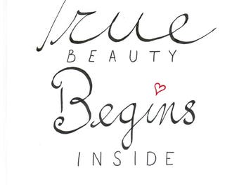 True Beauty typography