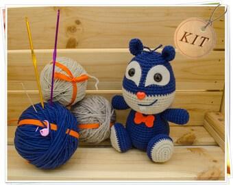 Crochet Squirrel Kit, Amigurumi Squirrel Kit, DIY Squirrel Kit, Crochet Chipmunk Kit, Squirrel Craft Kit, Squirrel Kit Set