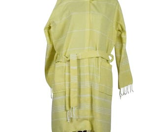 Cotton Peshtemal Hooded Robe