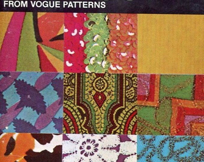 FREE US SHIP Vogue Book Everything about Sewing Special Fabrics 1972 Sewing Pattern Booklet