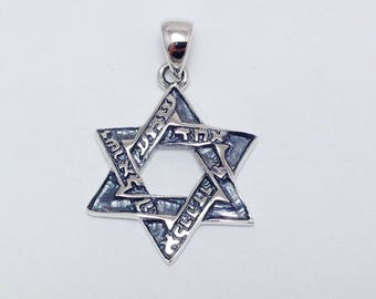 INACY 925 Sterling Silver Hexagram Star Pendant Womens Necklaces 01BIq