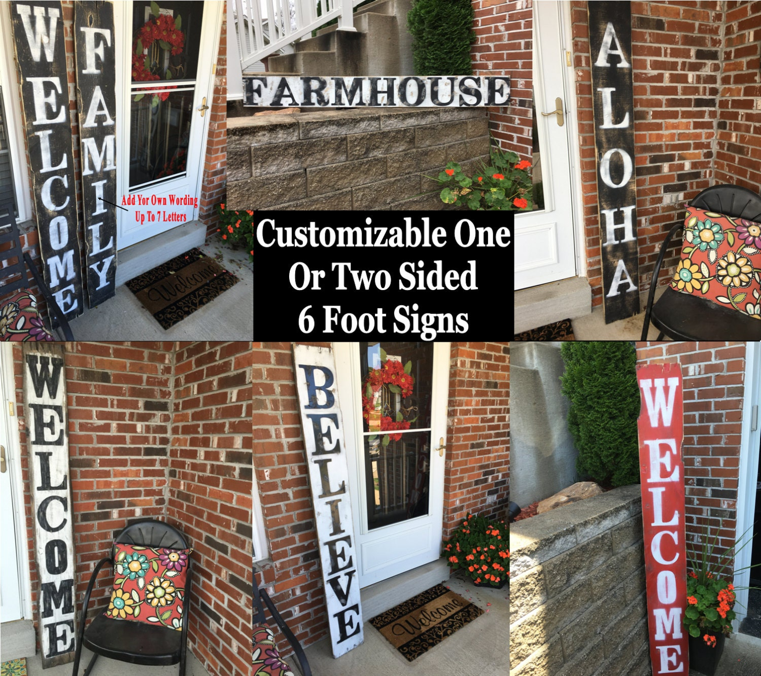 Unique Reclaimed wood welcome sign, Reclaimed wood porch welcome sign  XA26