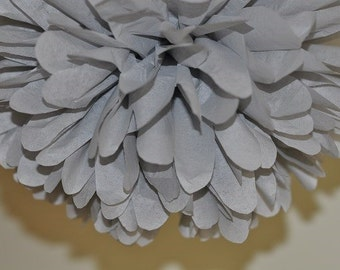 Gray Tissue Paper Pom Poms, Gray Wedding Decorations, Elephant Baby Shower Decorations, Event Decorations, Birthday Party Decorations