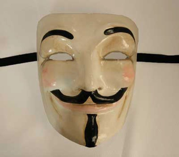 Papier Mache Guy Fawkes Mask, V for Vendetta