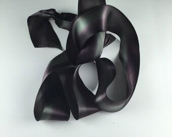 """2.5"""" violet vert soie Satin ruban Harry aubergine Olive automne mariage par l'yard"""