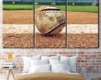 Baseball ball, Bseball canvas, Baseball print, Baseball art room, Baseball play room, Baseball theme room, Baseball typography, Sports decor