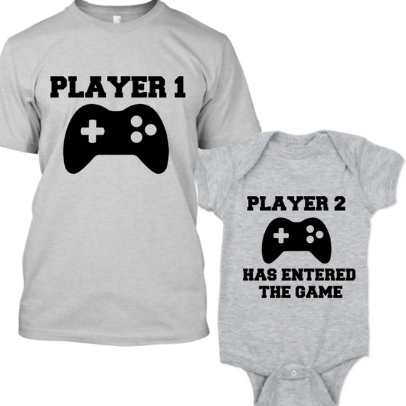 Player 1 Player 2 Shirts, Daddy and Son Shirts, Gamer Shirt, Player 2 Has Entered the Game, Family Matching Tshirts, Father Birthday Gift