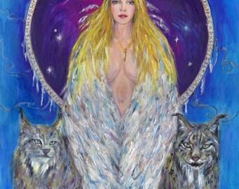 Freyja - Norse Goddess of Love, Magic & Seidr  -  Canvas Print