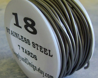18 Gauge BARE Stainless Steel Wire, 21 Feet
