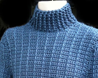 Sweaters, Men, Women, Unisex, Blue, Crochet, Mens sweaters, Womens sweaters, Unisex sweaters, Mens fashions, Womens fashions, Clothing