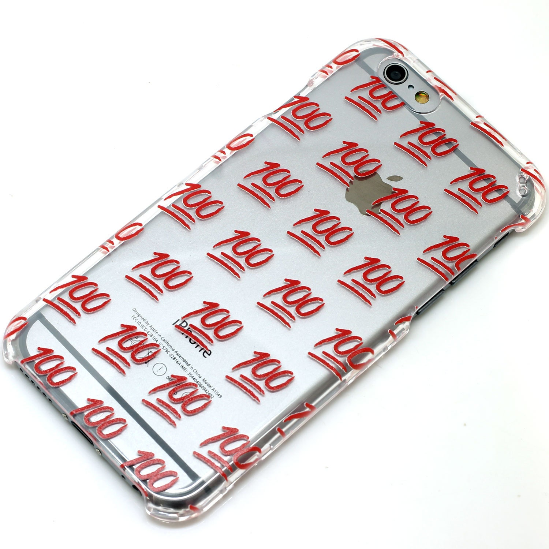 100 emoji icon red transparent clear phone case iphone 6 7 zoom buycottarizona