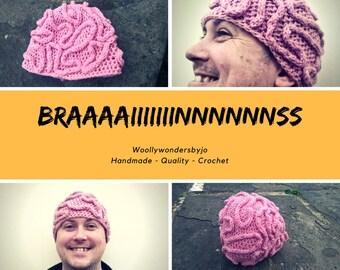 Handmade Crochet Brain Hat