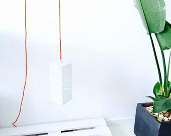 "Pendant lighting scandinavian design - Pendant lamp with textile cable - Handmade pendant light - Ceiling lamp - PRISM (12 ""x5"" - 30x12 cm)"