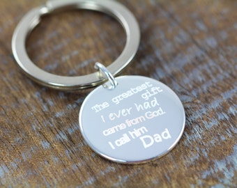 Personalized Fathers Day Gift Custom Engraved Key Ring Holder for Dad, Gift Ideas for Dads