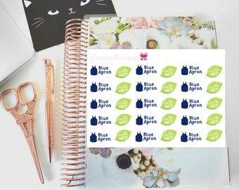Meal Delivery Service (Blue Apron, Hello Fresh) Hand Drawn Planner Stickers