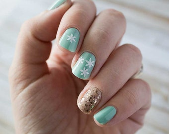 Simple Snowflake Nail Stickers / Decals