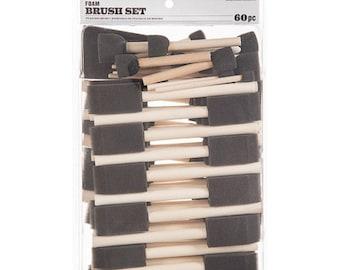 60 Piece Foam Brush And Pouncer Set