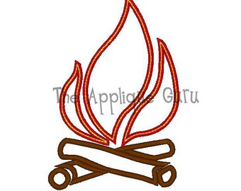 Campfire Applique Machine Embroidery Design