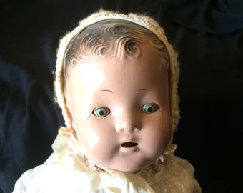 Vintage Composition Baby Doll - 1920