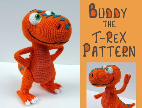 Amigurumi Dinosaur Free Pattern : Crochet pattern: buddy the t rex dinosaur train amigurumi pdf