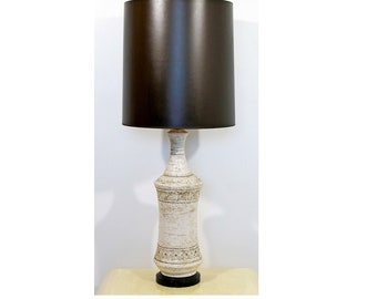 Mid Century Modern Bistossi Ceramic Table Lamp Italian